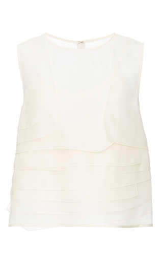 Silk Organza Layered Top by TIBI Now Available on Moda Operandi