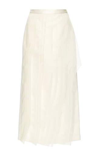 Silk Organza Layered Pencil Skirt by TIBI Now Available on Moda Operandi