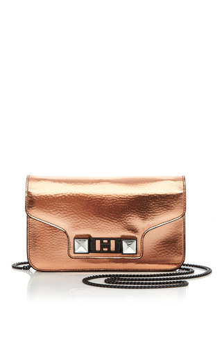 Bronze Patent Leather Ps11 Chain Wallet by PROENZA SCHOULER Now Available on Moda Operandi