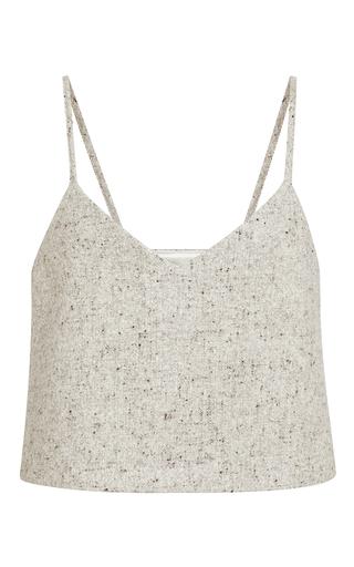 Grey Wool Half Pint Top  by ROSIE ASSOULIN Now Available on Moda Operandi