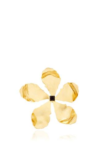 Medium rosie assoulin gold gold enamel single flower earring