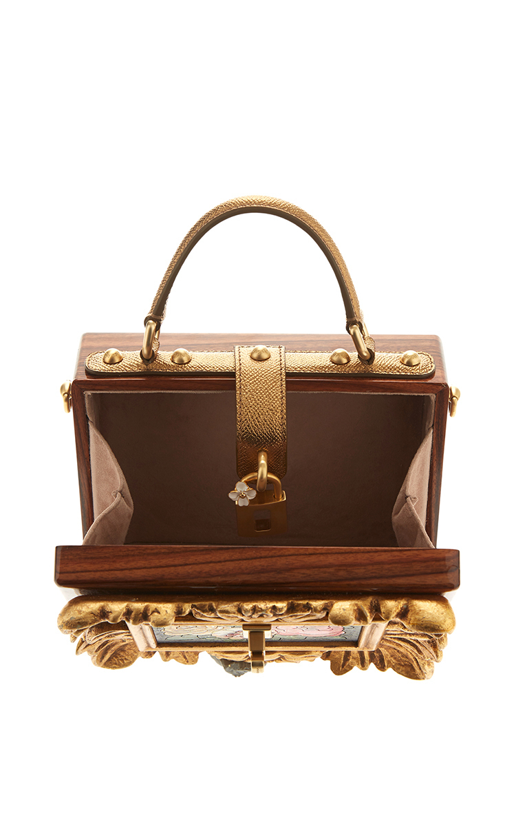 9f3b9cea59cc Dolce   GabbanaWood and Leather Floral Painting Box Bag. CLOSE. Loading.  Loading. Loading. Loading. Loading