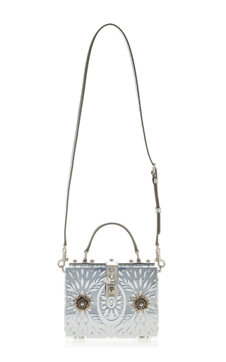 Mirrored Metal Flower Cut Out Box Bag  by DOLCE & GABBANA Now Available on Moda Operandi