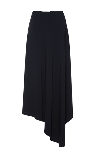 Long Stretch Cady Skirt With Asymmetrical Hem by MARNI Now Available on Moda Operandi