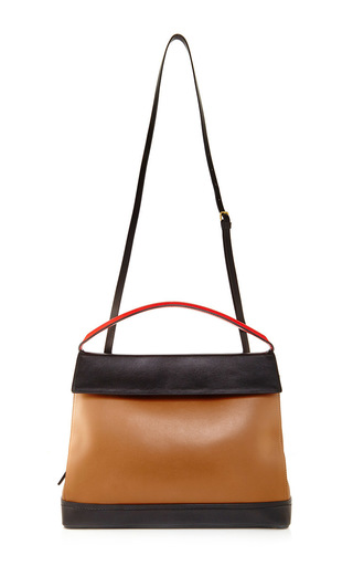 Medium marni dark grey calf leather handbag