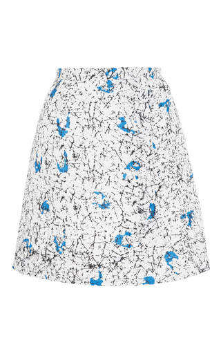 Floral Printed A Line Skirt by CARVEN Now Available on Moda Operandi