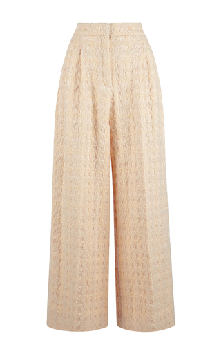 White Silk Wool Tabitha Trousers by EMILIA WICKSTEAD Now Available on Moda Operandi