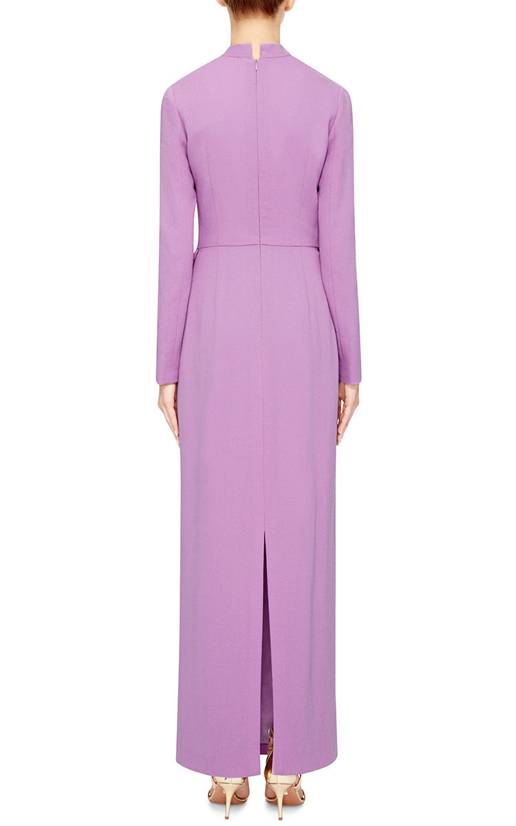 Purple Long Sleeve Maxi Dress