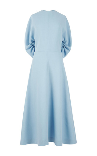 Medium emilia wickstead blue light blue wool dana maxi dress