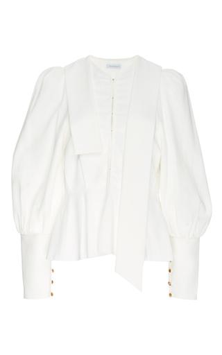 Medium j w anderson white puff sleeve blouse