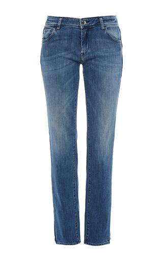 Medium seafarer medium wash bonny side stripe straight leg jeans