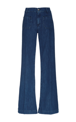 Medium seafarer navy medium wash circe flared jeans