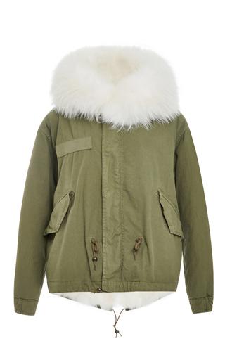 Medium mr mrs italy green army fur lined mini parka