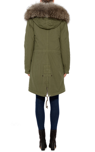 Army Fur Lined Parka  by MR & MRS ITALY Now Available on Moda Operandi
