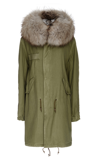 Medium mr mrs italy green army fur lined parka
