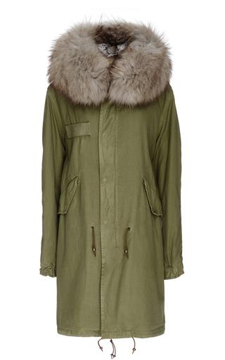 Medium mr mrs italy green army fur lined parka
