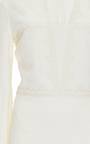 Ivory Long Sleeved Printed Dress With Embroidery by VILSHENKO Now Available on Moda Operandi