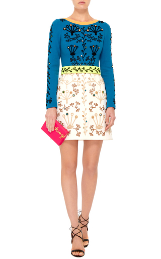 Wool Cari Dress With Swarovski Crystal Embroidery by PETER PILOTTO Now Available on Moda Operandi