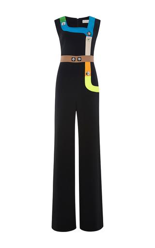 Black Sleeveless Neon Track Jumpsuit by PETER PILOTTO Now Available on Moda Operandi