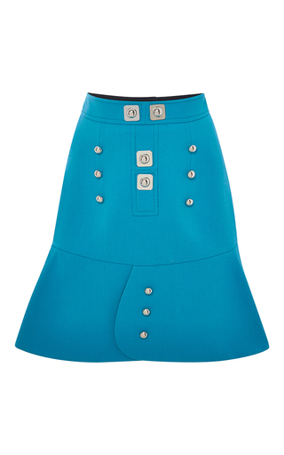 Medium peter pilotto blue blue tessel skirt with buttons