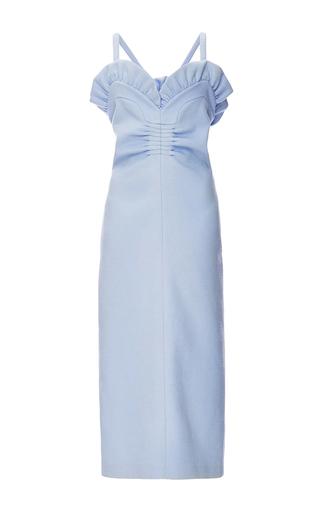Wool Angora Mikado Sweetheart Pencil Dress  by ROCHAS Now Available on Moda Operandi