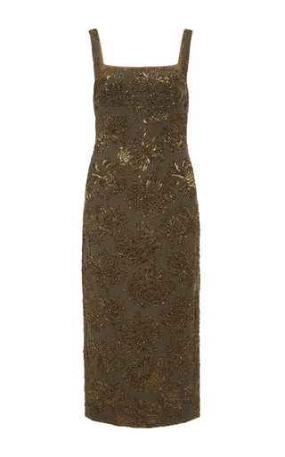 Sleeveless Fitted Brocade Dress by ROCHAS Now Available on Moda Operandi