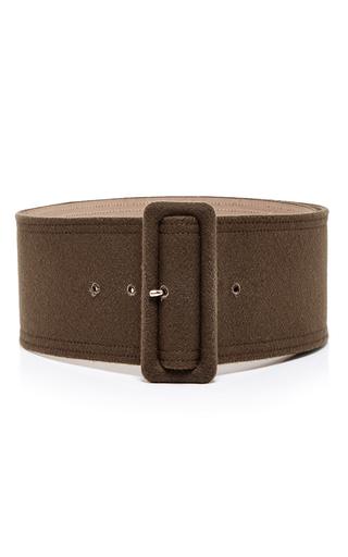 Medium rochas green green wool silk wide waist belt