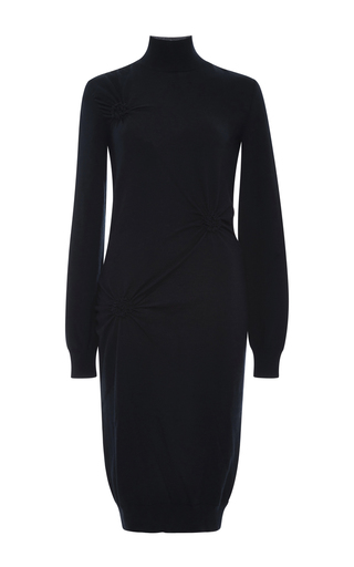 Wool Knit Dress With Ruched Detail by NINA RICCI Now Available on Moda Operandi