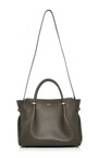 Olive Calfskin Leather And Suede Le Marché Bag by NINA RICCI Now Available on Moda Operandi