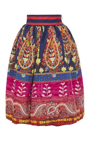 Medium stella jean print grand rapids cotton midi skirt