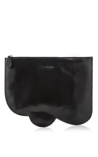 Black Scalloped Leather Clutch by SIMONE ROCHA Now Available on Moda Operandi