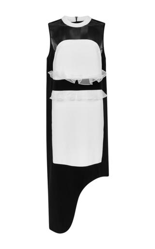Medium karla spetic multi black and white silk juliette panel sleeveless dress