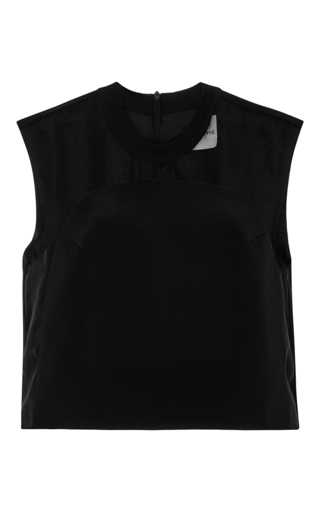 Black Silk Laura Floating Arch Sleeveless Top by KARLA ŠPETIC Now Available on Moda Operandi
