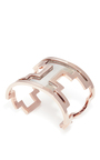 M'o Exclusive: Du Cane Rose Gold And Ruthenium Cuff by MONICA SORDO Now Available on Moda Operandi