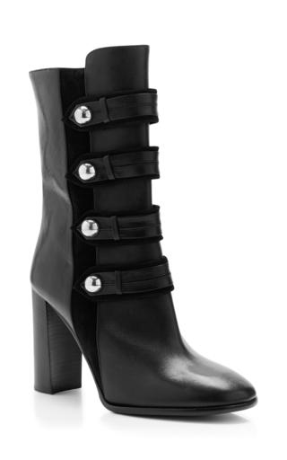 Medium isabel marant black black calf leather arnie brandenburg boots