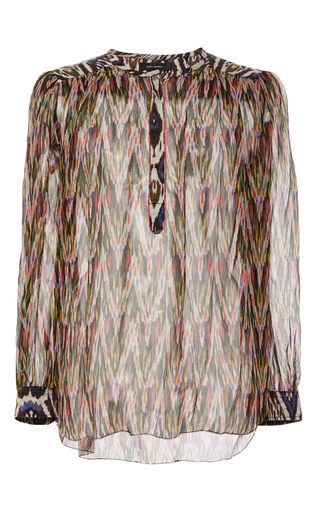 Pilay Printed Silk Blouse by ISABEL MARANT Now Available on Moda Operandi