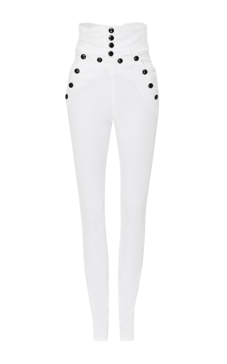Medium isabel marant white high waisted brandebourg jean nepos pants