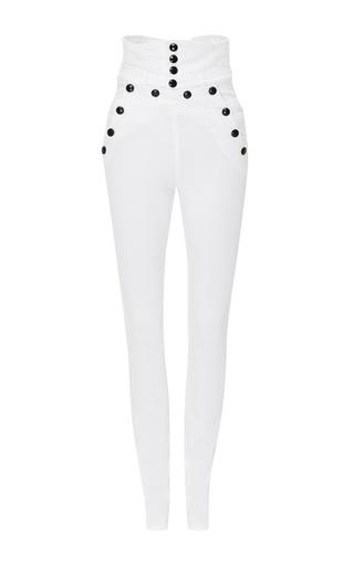 Medium isabel marant white high waisted brandebourg jean nepos pants