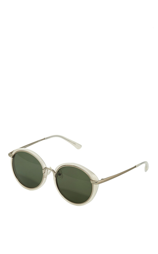 Acetate Circular Sunglasses  by LINDA FARROW Now Available on Moda Operandi