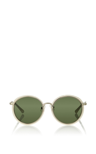 Medium linda farrow silver acetate circular sunglasses