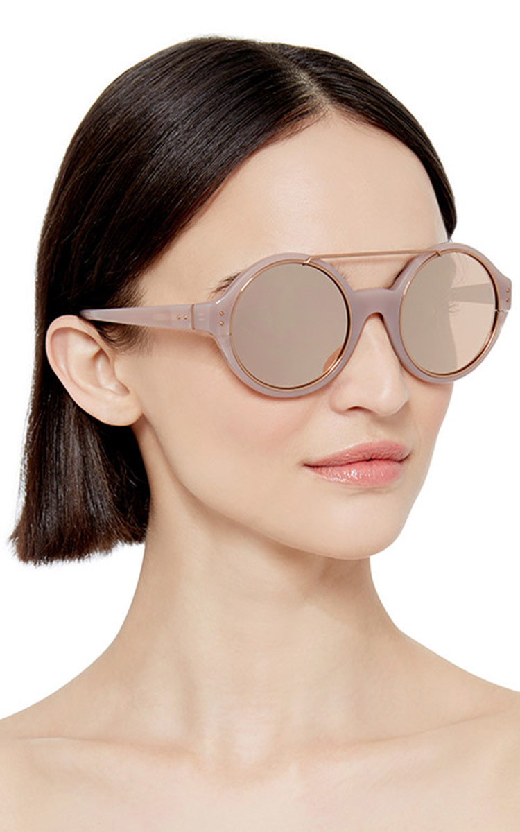 ed7ee7f5cff ... Dries Van Noten Circular Sunglasses by Linda Farrow Moda Operandi