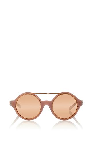Medium linda farrow light pink dries van noten circular sunglasses