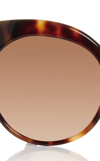 Tortoise Shell Cat Eye Sunglasses by LINDA FARROW Now Available on Moda Operandi