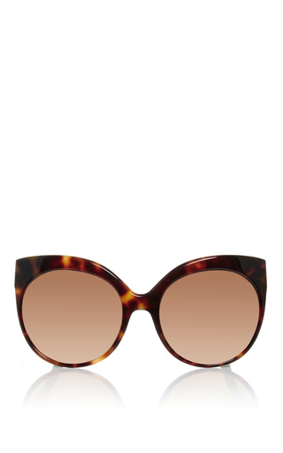 Medium linda farrow rose gold tortoise shell cat eye sunglasses