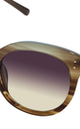 Oversized Sunglasses In Pale Gold By Linda Farrow Luxe by LINDA FARROW Now Available on Moda Operandi