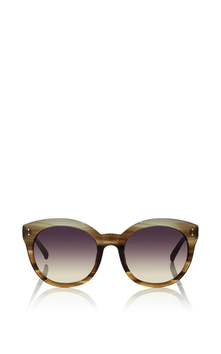 Medium linda farrow gold oversized sunglasses in pale gold by linda farrow luxe