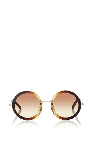 Medium linda farrow brown john lennon inspired sunglasses x the row