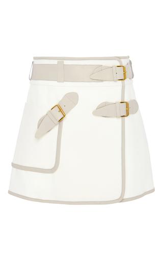 Medium derek lam 10 crosby white white cotton utility wrap skirt