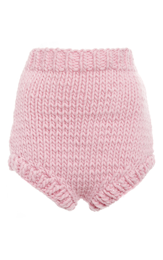 Medium i love mr mittens pink pink wool high waisted shorts