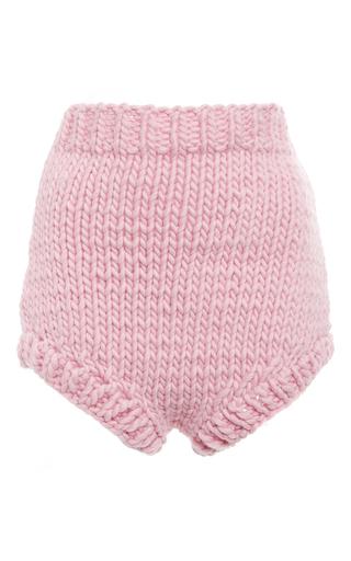 Medium i love mr mittens pink pink wool high waisted shorts